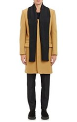 Tim Coppens Melton Overcoat With Zip Off Scarf Nude Size 46 Eu