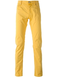 Jacob Cohen Chino Trousers Yellow And Orange