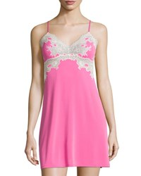 Natori Enchant Lace Trimmed Chemise Tropical Pink