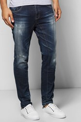 Boohoo Seamed Dark Wash Jean Blue