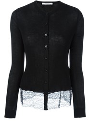 Givenchy Lace Hem Cardigan Black