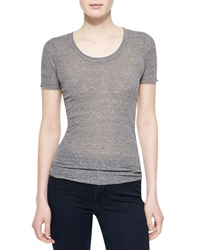 Alexa Chung For Ag The Perfect Cotton Blend Tee Heather Gray