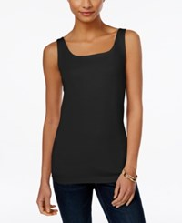 Styleandco. Style And Co. Petite Shelf Bra Tank Top Only At Macy's Deep Black