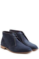 Ludwig Reiter Suede Ankle Boots Blue