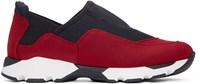 Marni Black And Red Neoprene Slip On Sneakers