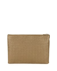 Bottega Veneta Large Zip Top Cosmetics Bag Calvados Gold