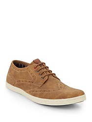 Ben Sherman Nick Suede Wingtip Sneakers Tan