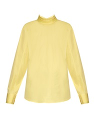 Jil Sander Ruffle Collar Long Sleeved Cotton Shirt