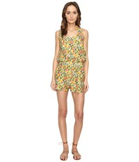 Stella Mccartney Iconic Prints All In One Romper Cover Up Yellow Citrus Print