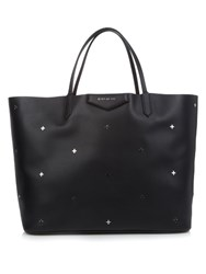 Givenchy Antigona Large Cross Embellished Leather Tote Black
