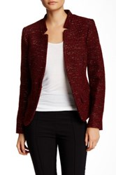 Charles Gray London Boucle Knit Jacket Red