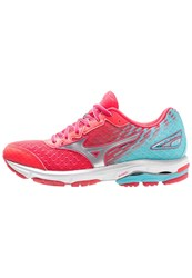 Mizuno Wave Rider 19 Cushioned Running Shoes Diva Pink Silver Capri