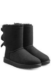 Ugg Australia Short Bailey Bow Suede Boots Black