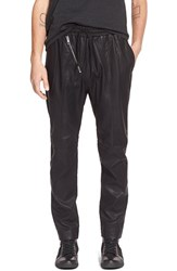 Men's Antony Morato Faux Leather Elastic Waist Pants