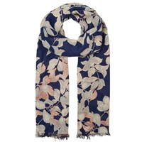 Whistles Apples And Pears Scarf Blue Multi