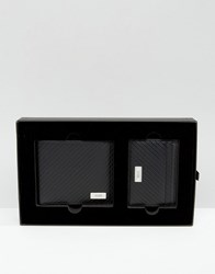 Boss By Hugo Leather Wallet And Card Holder Gift Set Black