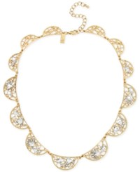 Inc International Concepts Gold Tone Crystal Web Necklace Only At Macy's