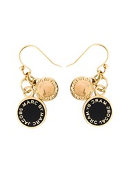 Marc By Marc Jacobs Logo Disk Earrings Black