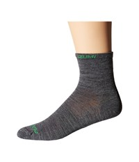 Pearl Izumi Elite Wool Sock Shadow Grey Men's Crew Cut Socks Shoes Gray