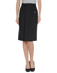 Antonio Fusco Knee Length Skirts Black