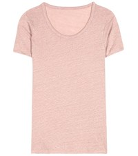 81 Hours Perry Linen T Shirt Pink