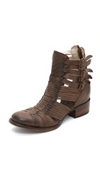Freebird Sally Booties Brown