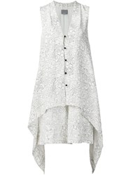 Maiyet Printed Button Dress White