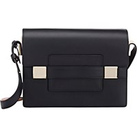 Delvaux Women's Madame Pm Shoulder Bag Black Blue Black Blue