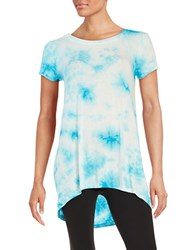 Context Tie Dye Tee Blue Jay Feather