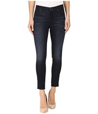 J Brand Mid Rise Capri In Dark Innovation Dark Innovation Women's Capri Blue