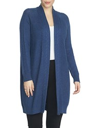 Chaus Cable Stitch Long Cardigan Navy