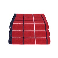 Tommy Hilfiger Red Checks Towel Hand Towel