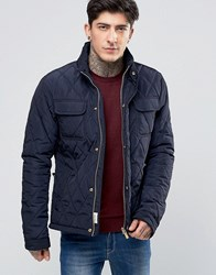 Scotch And Soda Quilted Jacket In Navy Navy