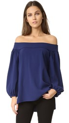 Amanda Uprichard Slouchy Top Navy