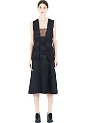 Proenza Schouler Woven Tweed Dress Black