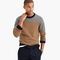 J.Crew Lambswool Sweater In Varsity Colorblock