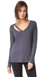 Lna Long Sleeve Fallon V Neck Vintage Black