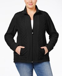 Styleandco. Style Co. Plus Size Quilted Active Jacket Only At Macy's Deep Black