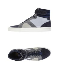 Trussardi Footwear High Tops And Trainers Men Dark Blue