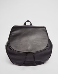 Monki Foldover Back Pack Black