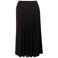 Chesca Piping Trim Tuck Detail Jersey Skirt Black