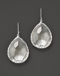 Ippolita Sterling Silver Rock Candy Large Teardrop Earrings In Clear Quartz No Color