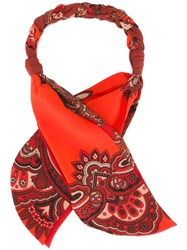 Alexander Mcqueen Paisley Print Scarf Red