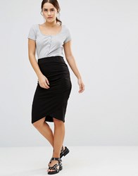 Uncivilised Chorus Jersey Tube Skirt Black