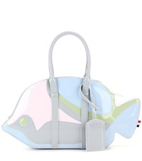 Thom Browne Trigger Reef Fish Patent Leather Tote Multicoloured