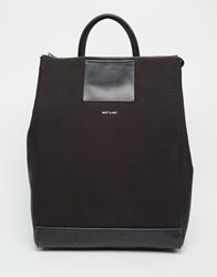 Matt And Nat Katherine Canvas Backpack Black