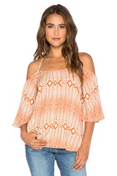 Chaser Off Shoulder Top Orange