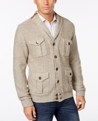 Weatherproof Vintage Men's Lined Cardigan Only At Macy's Oatmeal