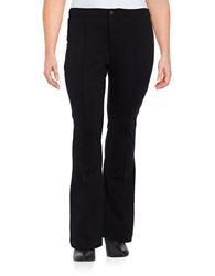 Michael Michael Kors Plus Flared Ponte Pants Black