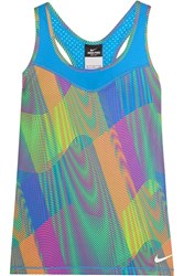 Nike Pro Hypercool Frequency Dri Fit Stretch Jersey Tank Bright Blue